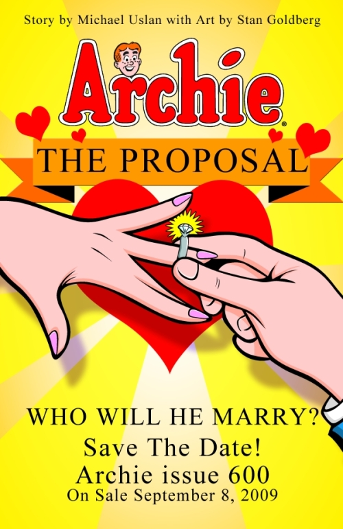Archie Andrews will be marrying Veronica Lodge in an upcoming issue.