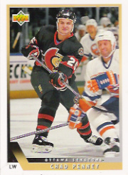 This is Chad Penney's rookie card. It might also be his only NHL card.